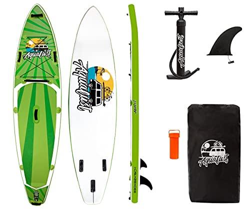 AQUALUST 10'8' Cruiser SUP Board Stand Up Paddle Surf-Board aufblasbar ISUP 330cm Green
