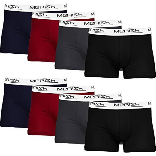 MERISH Boxershorts Herren 8er Pack S-5XL Unterwäsche Unterhosen Männer Men (5XL, 216c 8er Set Mehrfarbig)