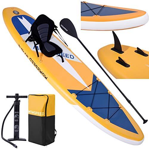CosHall SUP Board Stand Up Paddling Board Komplettes Aufblasbares Paddle Zubehör, Premium SUP Board Set (Orange)