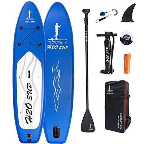 H2OSUP Stand Up Paddling Board,320 x 76 x 15 cm Aufblasbares SUP Board,mit Rucksack,Haltbares Paddle Board...