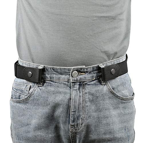 Gürtel ohne Schnalle Herren, Elastischer Gürtel Unsichtbare Dehnbarer Justierbar Stretchgürtel Schnallenfreier 3.51 Breit für Jeans Hosen