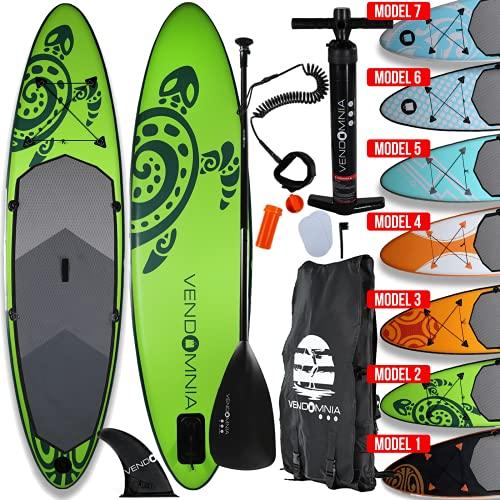 SUP Board Set - aufblasbar, Pumpe, Tragetasche, 15cm dick, Belastung 130 kg, 3 PVC Schichten, 7 Farben, 4 Größen 305cm 320cm 366cm 380cm - Stand Up Paddelboard, Surfboard, Paddle Paddling board