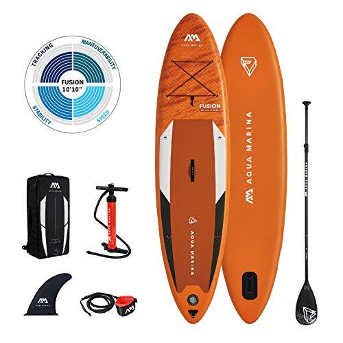 AM AQUA MARINA Unisex Adult - All-around Isup, 3.3m/15cm, Fusion All Around iSUP 3 3m 15cm with paddle and safety leash, Orange, 330 x 81 15 cm EU